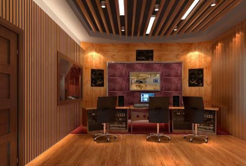 企业简介专题专用的配音录音棚现场图